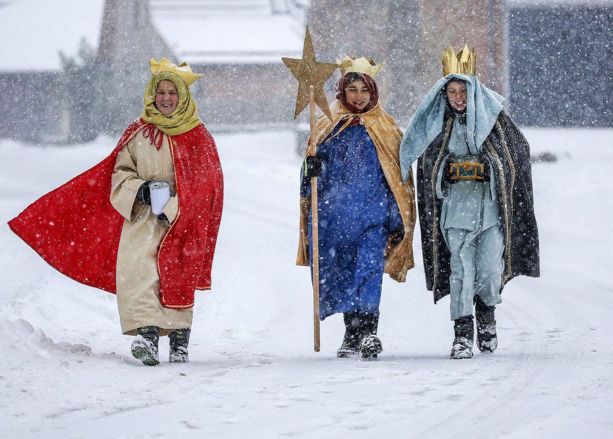 traja králi, Vianoce, zima, sneh