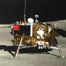 Čína vesmír Mesiac sonda rover fotografia panoramatická
