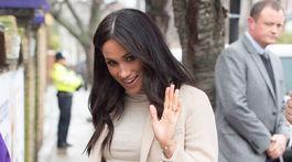 Tehotná vojvodkyňa Meghan prichádza na charitatívnu akciu na pomoc zvieratám v Londýne.