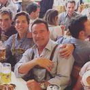 Arnold Schwarzenegger (vpravo) a jeho nemanželský syn Joseph Baena