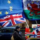 británia, brexit, protest, demonštrácia