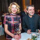 Herec Peter Kočiš a jeho partnerka Miroslava Frankovská na premiére predstavenia Rozum a cit.