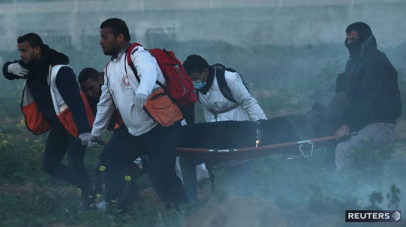 izrael, palestína, pásmo gazy, ranený, nosítka,...