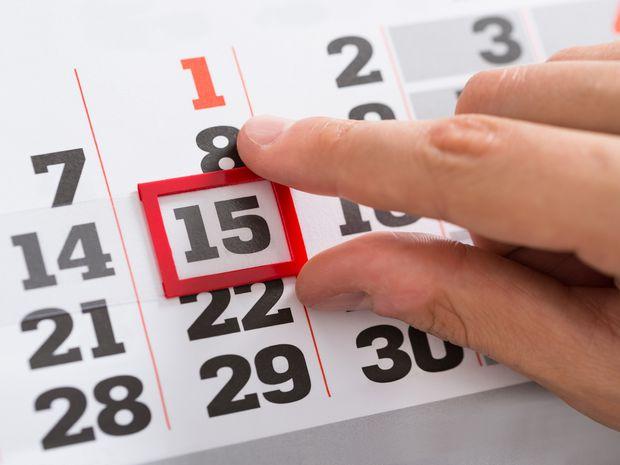 kalendár, dátum, termín