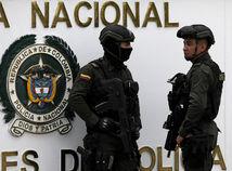 Kolumbia, bogota, útok, polícia