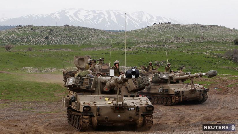 izrael, sýria, irán, golanské, výšiny, tank,...