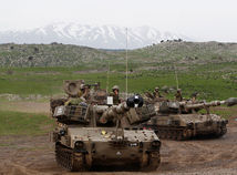 izrael, sýria, irán, golanské, výšiny, tank, hermon,