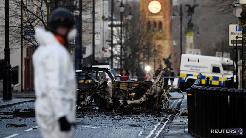 británia, severné írsko, londonderry, auto,...
