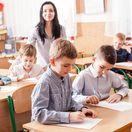škola, žiak, učiteľka, trieda