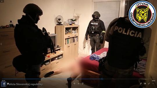 Zásah NAKA na západnom Slovensku.
