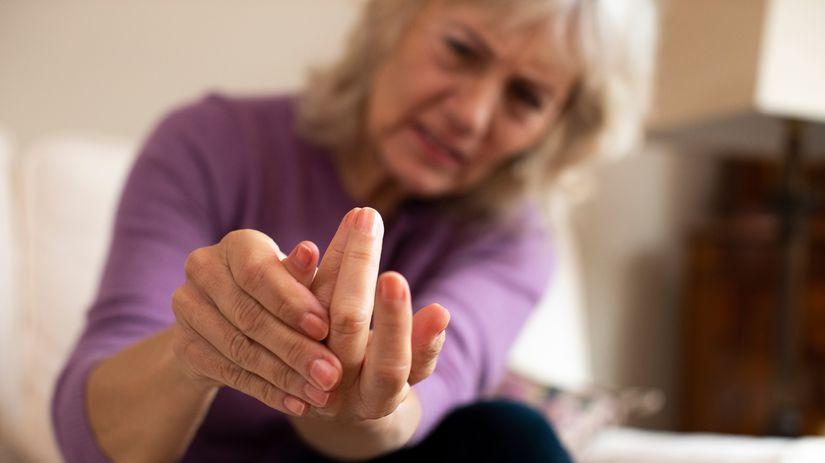 žena, hendikep, reuma, bolesť, ruka