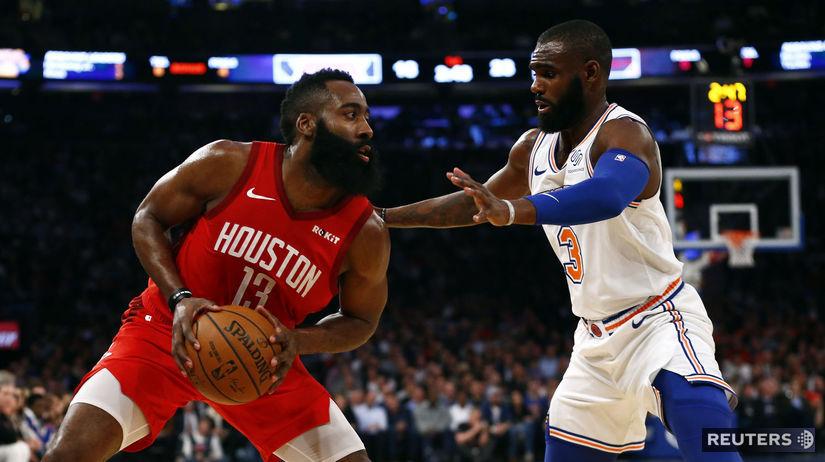 BASKETBALL-NBA-NYK-HOU Harden