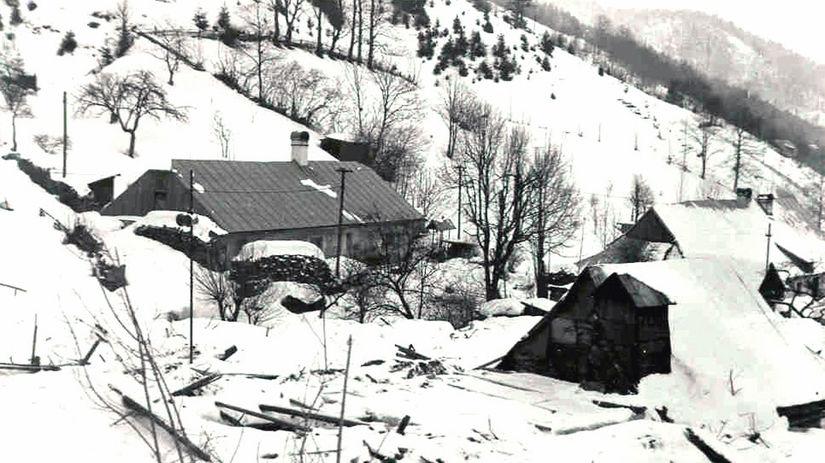 Trosky osady Rybô, lavína