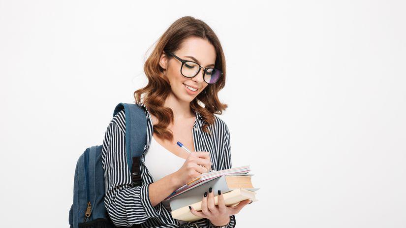 VS, dievca knihy