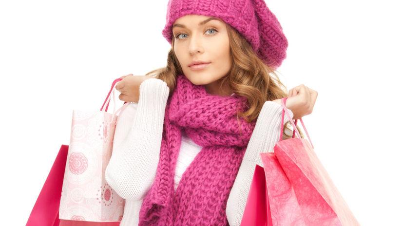Nákupy, žena, nakupovanie,