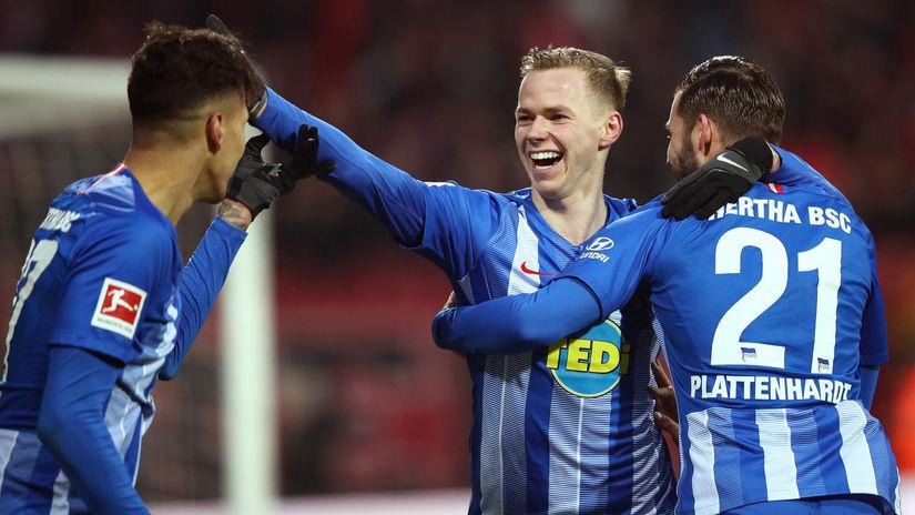 Nemecko futbal Norimberg Hertha Duda