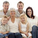 rodina, rodičia, starí rodičia, dôchodcovia, deti, vnuk, vnučka