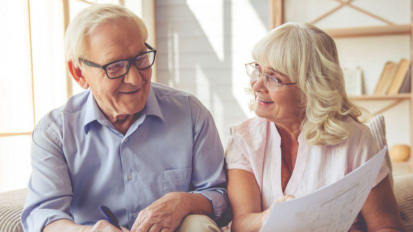 dôchodci, seniori, plánovanie