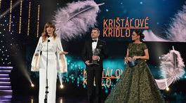 Na snímke zľava: moderátorka RTVS Jarmila Lajčáková-Hargašová, premiér SR Peter Pellegrini a moderátorka Karin Haydu.