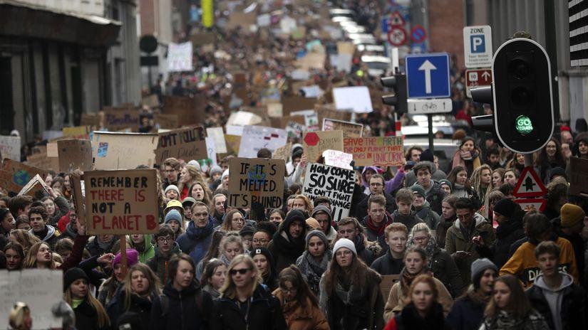 belgicko, klimatické zmeny, protest