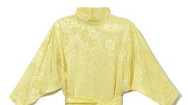 Dámske šaty vo výraznej žltej farbe Reserved.