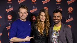 Autorka kuchárok a modelka Mirka Luberdová so spevákom Tomášom Bezdedom (vľavo) a pretekárom Ivanom Jakešom.