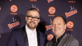 Generálny riaditeľ TV Markíza Matthias Settele (vpravo) a riaditeľ marketingu a PR televízie Markíza Michal Borec.