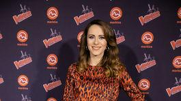 Na párty šou The Voice Česko Slovensko prišla aj moderátorka Lenka Vavrinčíková.