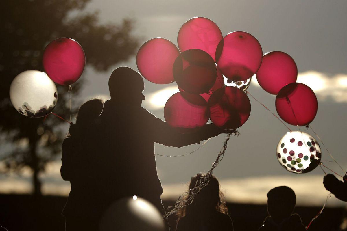 New Jersey, balóny, rodina, dieťa, deti