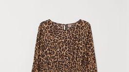 Šaty so zvieracím vzorom H&M, predávajú sa za 29,99 eura.