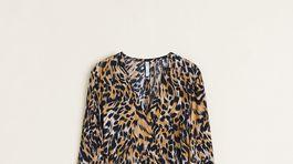 Šaty so zvieracím vzorom Mango, predávajú sa za 69,99 eura.