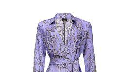 Šaty so zvieracím vzorom Pinko, predávajú sa za 385 eur.