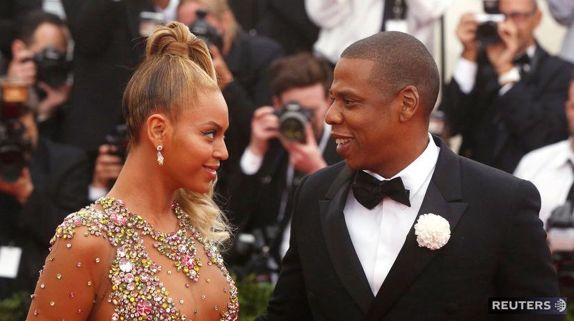Speváčka Beyoncé a jej manžel Jay-Z na...