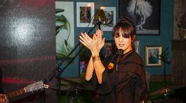 Speváčka Jana Kirschner predviedla na párty krétke vystúpenie.