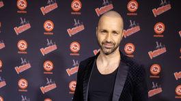 Spevák Robo Opatovský na párty The Voice Česko Slovensko.