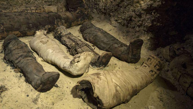 Egypt Archeológia Múmie Komory Pohrebné Objav