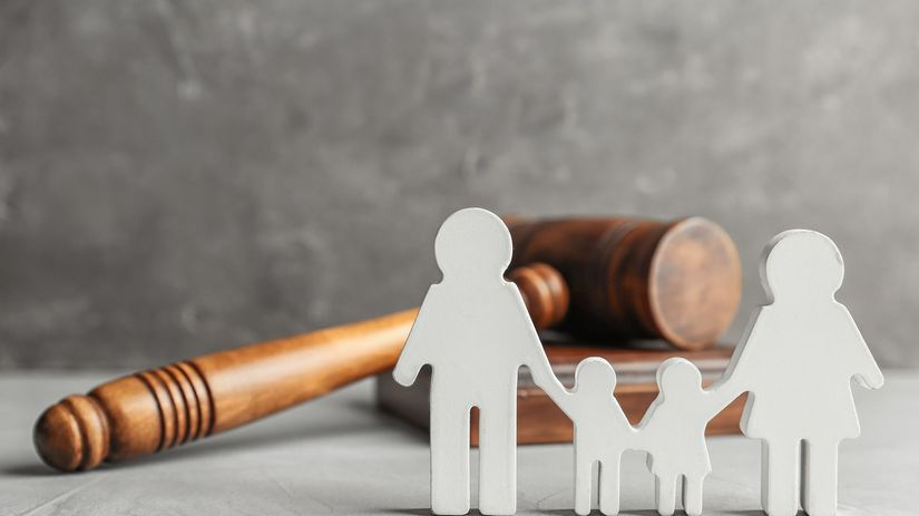 rodina, súd, dedičstvo, kladivko, právo