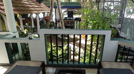 Srí Lanka, Tangalle, Frangipani Beach villa, balkón