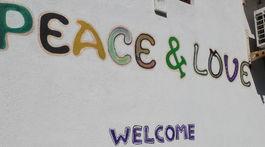 Srí Lanka, Tangalle, nápis, mier, láska