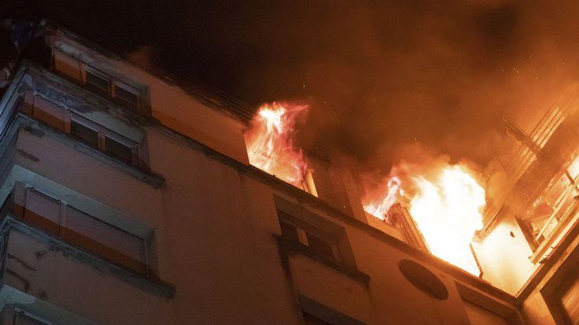 Francúzsko Paríž požiar obytný dom