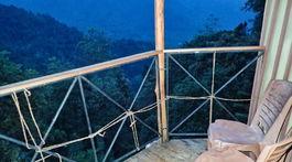 Srí Lanka, domček na strome, balkón