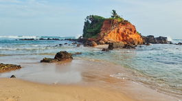 Srí Lanka, Mirissa, polostrov, Parrot island, pláž