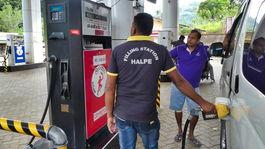 Srí Lanka, pumpa, benzín, nafta