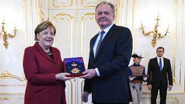 PREZIDENT: Prijal nemeckú kancelárku
