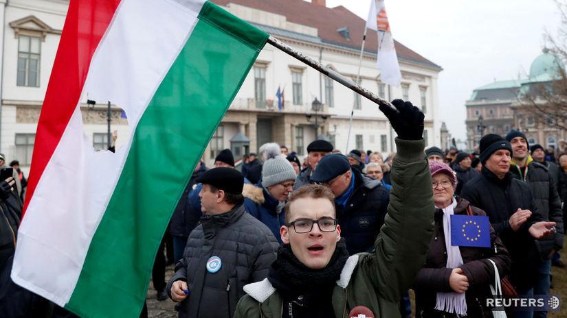 budapešť, orbán, protest