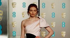 Herečka Eleanor Tomlinson na vyhlásení cien BAFTA.