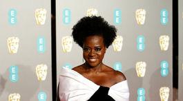 Herečka Viola Davis na cenách BAFTA.