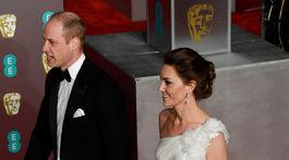 Princ William a jeho manželka Catherine, vojvodkyňa z Cambridge na vyhlásení cien BAFTA.