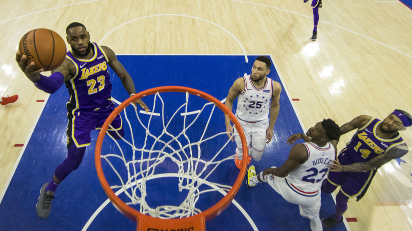 Lakers 76ers Basketball NBA