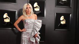 Speváčka Lady Gaga prišla v kreácii Céline.